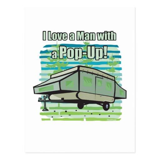Camping PopUp Postcard
