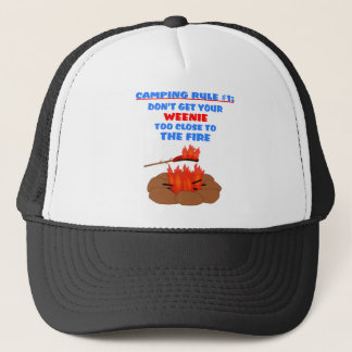 Camping Rule Number 1 Trucker Hat