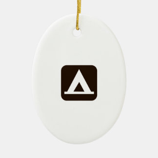 Camping Sign Symbol Ceramic Ornament