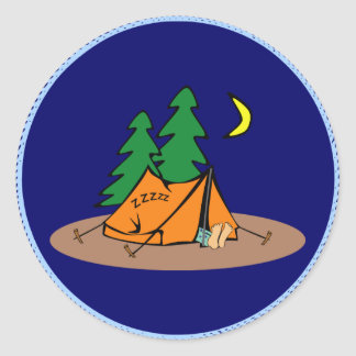 C&ing - sleeping in a tent classic round sticker  sc 1 st  Zazzle CA & Custom Camping Is In Tents Stickers | Zazzle.ca