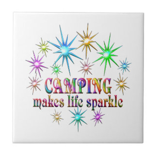 Camping Sparkles Tile