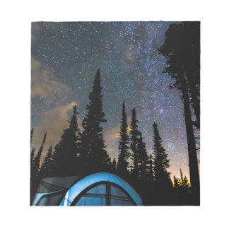 Camping Star Light Star Bright Notepad