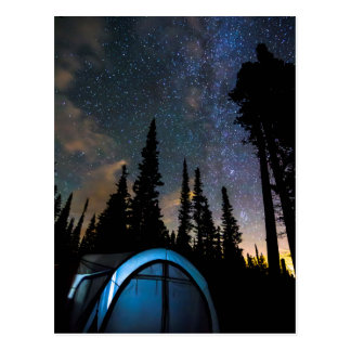 Camping Star Light Star Bright Postcard