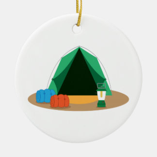 Camping Tent Ceramic Ornament