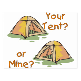 Camping Tents Postcard