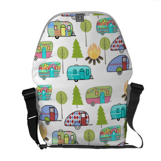 Camping Themed Pattern Bags Messenger Bag