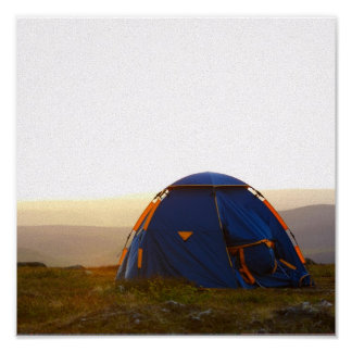 camping trip in Lapland in the evening sun Poster