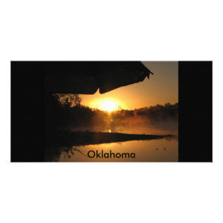 camping trip, Oklahoma Personalized Photo Card