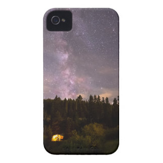 Camping Under Nighttime Milkway Stars iPhone 4 Case-Mate Cases