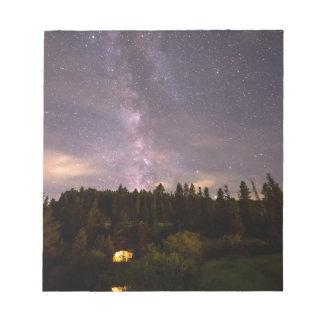 Camping Under Nighttime Milkway Stars Notepad