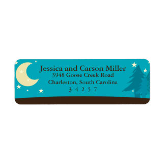 Camping Under the Moon and Stars Return Address Label