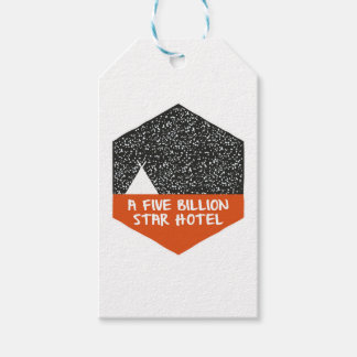 Camping under the stars gift tags