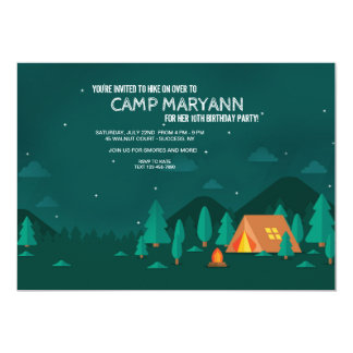Camping Under the Stars Invitation