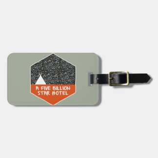 Camping under the stars luggage tag