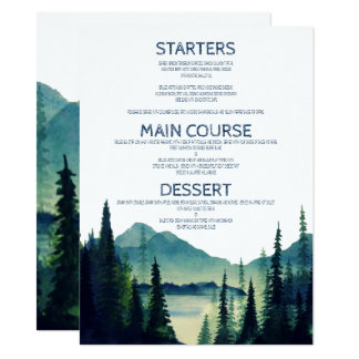 Camping Wedding Menu Cards