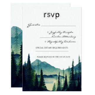 Camping Wedding RSVP Card