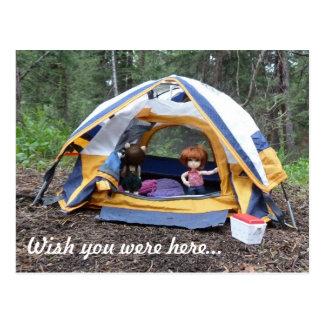Camping with Miranda Postcard