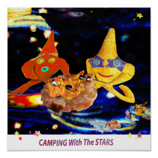 Camping with the stars poster