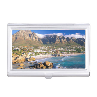Camps Bay Beach And The Twelve Apostles Range Business Card Case