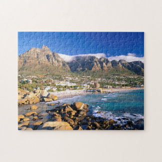 Camps Bay Beach And The Twelve Apostles Range Jigsaw Puzzle