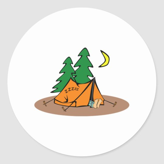 Campsite Classic Round Sticker