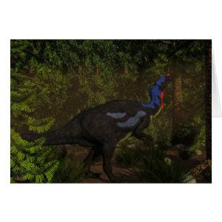 Camptosaurus dinosaur eating - 3D render Card