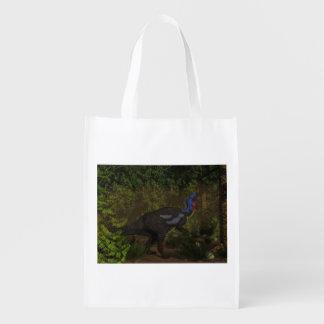 Camptosaurus dinosaur eating - 3D render Reusable Grocery Bag