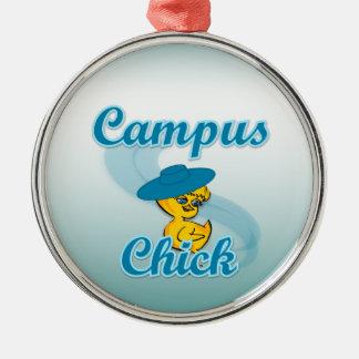 Campus Chick #3 Metal Ornament