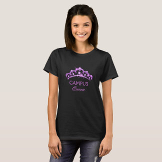 Campus Queen Tiara Princess Glam T Shirt Grad