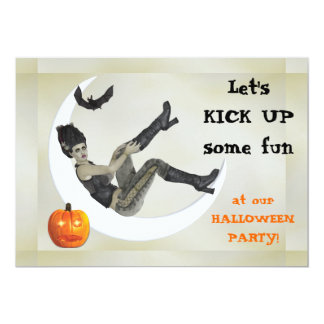 "Campy Frankenstein Mama Halloween Party 5"" X 7"" Invitation Card"