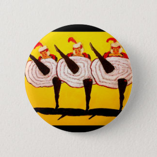 Can Can 2 Inch Round Button