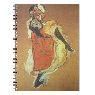 Can Can Dancer Spiral Notebook