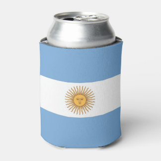 Can Cooler with flag of Argentina