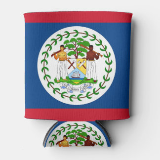 Can Cooler with flag of Belize