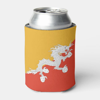 Can Cooler with flag of Bhutan