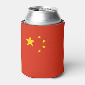 Can Cooler with flag of China