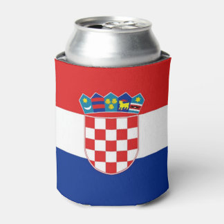 Can Cooler with flag of Croatia