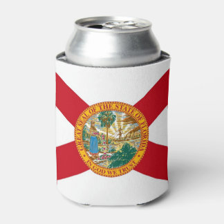 Can Cooler with flag of Florida State, USA.