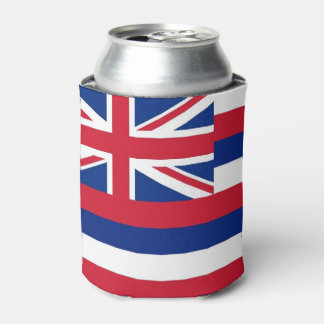 Can Cooler with flag of Hawaii State, USA.