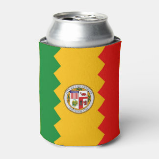 Can Cooler with flag of Los Angeles, USA.