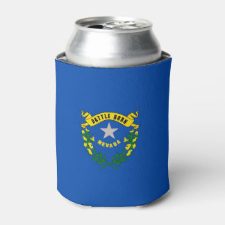 Can Cooler with flag of Nevada State, USA.