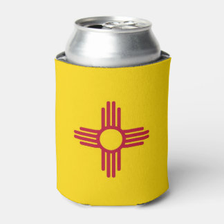 Can Cooler with flag of New Mexico State, USA.