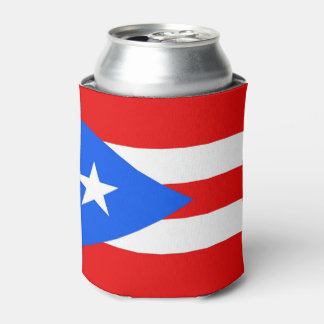 Can Cooler with flag of Puerto Rico, USA.