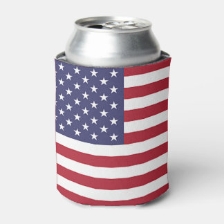 Can Cooler with flag of United States of America.