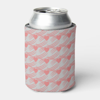 can cooler with pink hearts