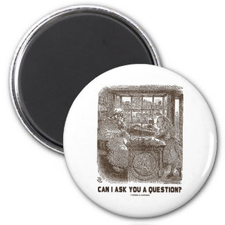 Can I Ask You A Question? (Alice Sheep) 2 Inch Round Magnet