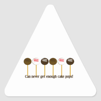 Can never get enough cake pops! triangle sticker