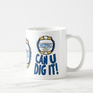 Can U Dig It Volleyball Blue Gold Coffee Mug