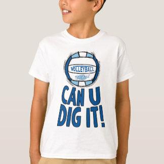 Can U Dig It Volleyball Blue Lt Blue T-Shirt