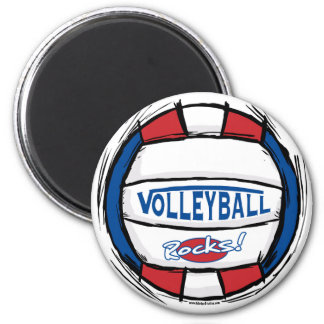 Can U Dig It Volleyball Blue Red Magnet